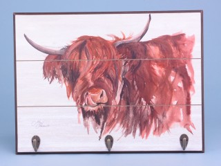Highland cow wall hooks - 40x30cm