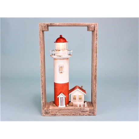 Lighthouse with LED light in frame
