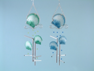 Metal and Glass Shell Wind Chime