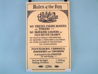Rules of the Inn Poster - Flat