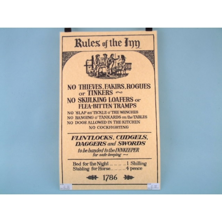 Rules of the Inn Poster - Scroll